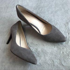 Cole Haan Amelia Grand OS Pump Grey Suede Heels